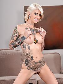 Milf with tattoo, hot breast kiss boy